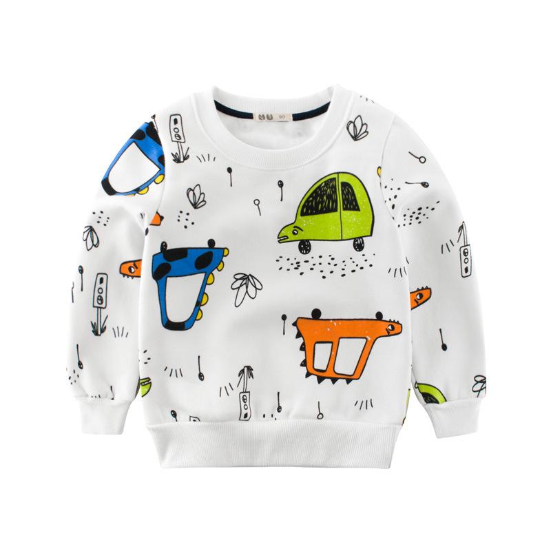 2018韩版童装秋冬新款儿童服装中小童卫衣抓绒男童秋装上衣套头衫