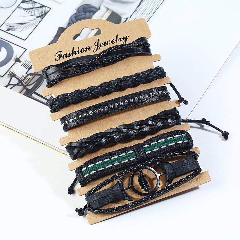Leather Fashion bolso cesta bracelet  (Six-piece set) NHPK2174-Six-piece-set