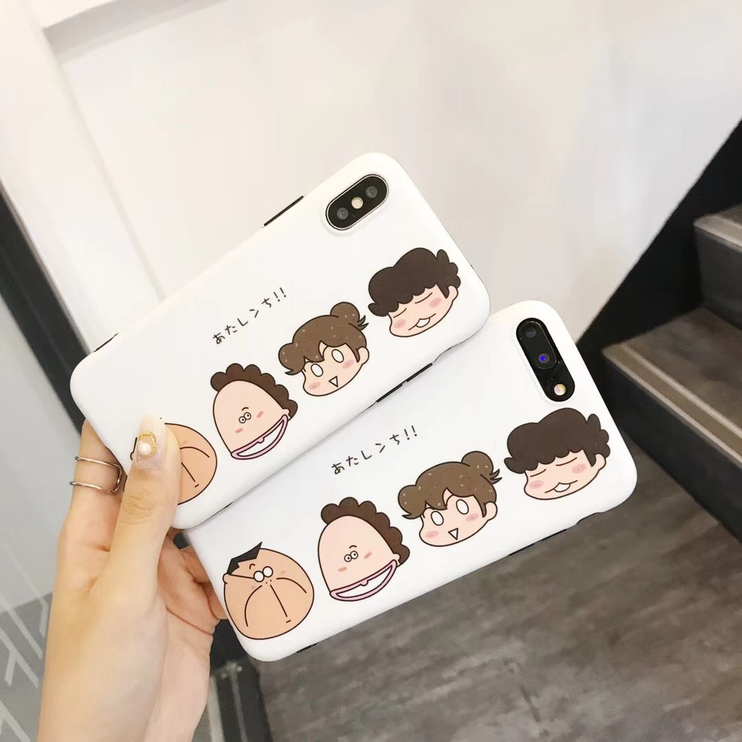Cartoon cute us Apple x phone case iPhone7plus/8/6s all-inclusive soft female models drop
