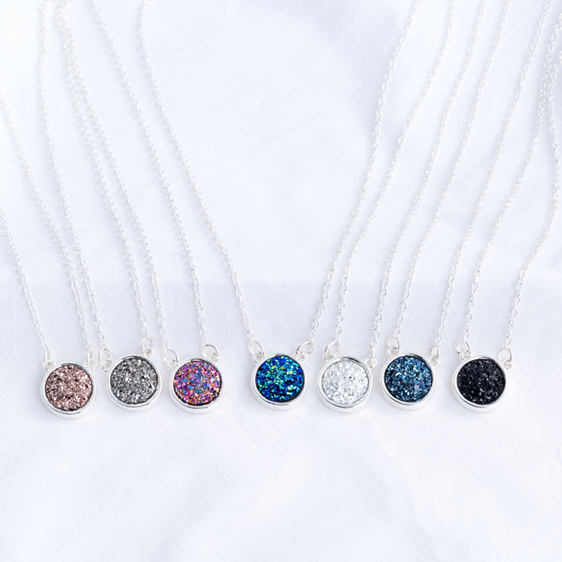 Fashion Hot Sale  Round  Natural Stone Pendant womens Necklace  NHAN251872