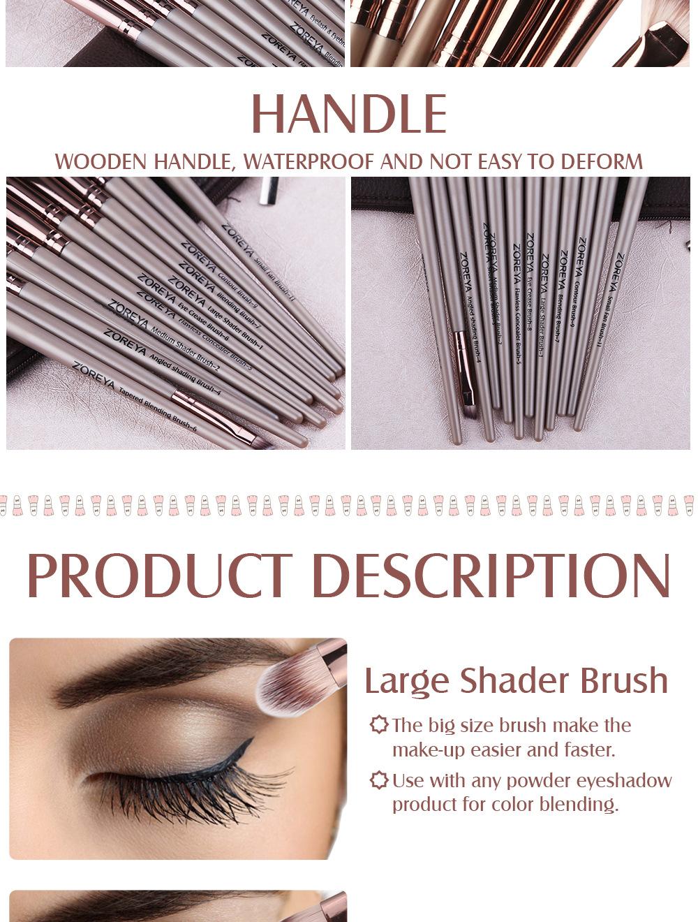12 pieces gift makeup brush tool set black artificial fiber eye shadow makeup brush set wholesale nihaojewelry NHAY222495