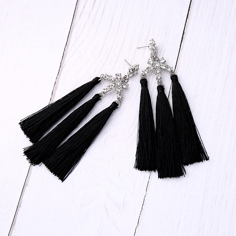 Alloy Fashion Tassel earring(Photo Color) NHQD5142-Photo Color
