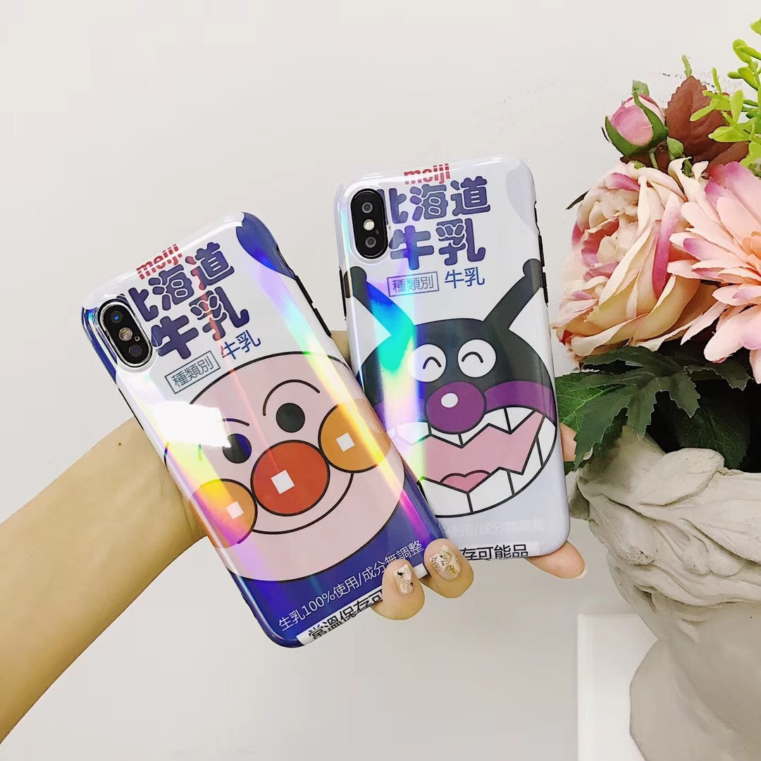 Ins Aurora Bread Superman Apple x Mobile Shell iphone7/8plus Soft Silicone Couple Creative Milk