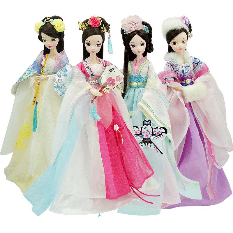 原创手工可儿娃娃古典中国四季仙子送支架14关节体古装女孩洋娃娃