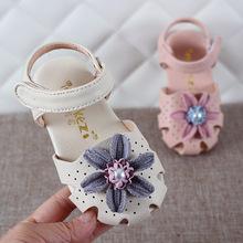 Xuân-Hè 2019 dép mới 0-2-3 tuổi Nữ trẻ em giày dép trẻ em đi giày đế bệt Baotou giày công chúa Dép trẻ em
