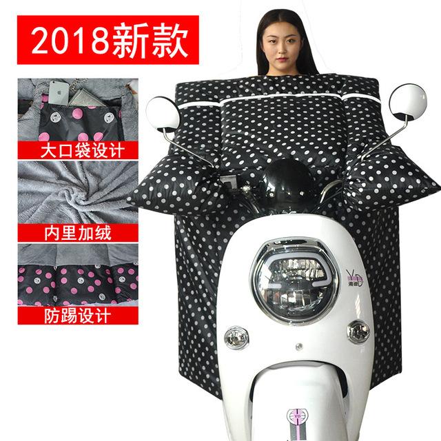 Điện xe kính chắn gió được tăng dày ấm gió mùa đông lạnh và không thấm nước quần áo scooter pin xe kính chắn gió Kính chắn gió