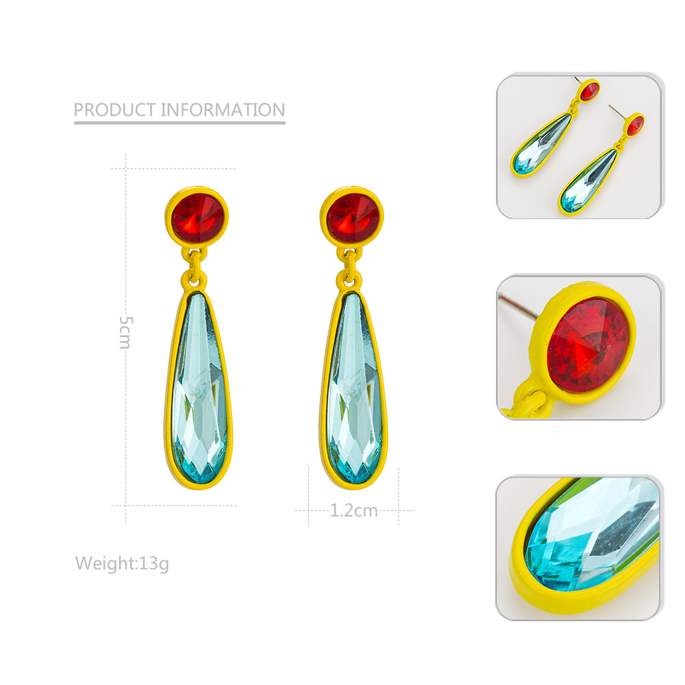 Alloy Fashion Geometric earring  (blue) NHYT1348-blue