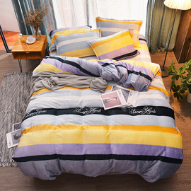 Thick flannel bedding set of four winter warm law lace quilt cover quilt cover group buy