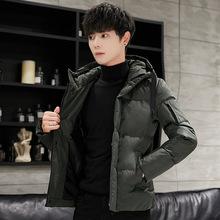 冬季新款男士棉衣外套常规款青年连帽棉衣休闲时尚保暖青春男装