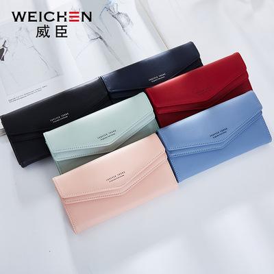 Mới 2018 Wesson của Phụ Nữ Wallet Đa Thẻ Hàn Quốc Đôi Hd Head Wallet Phụ Nữ Dài Châu Âu và Mỹ Thời Trang Ly Hợp