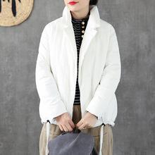 2018冬季新款宽松百搭轻薄白鸭绒宽松羽绒服短款?#21487;?#27668;?#26102;?#26262;外套