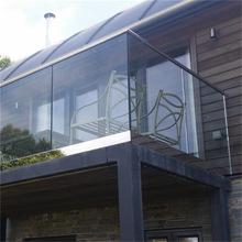 别墅小洋房透明底槽玻璃阳台栏杆 铝合金护栏