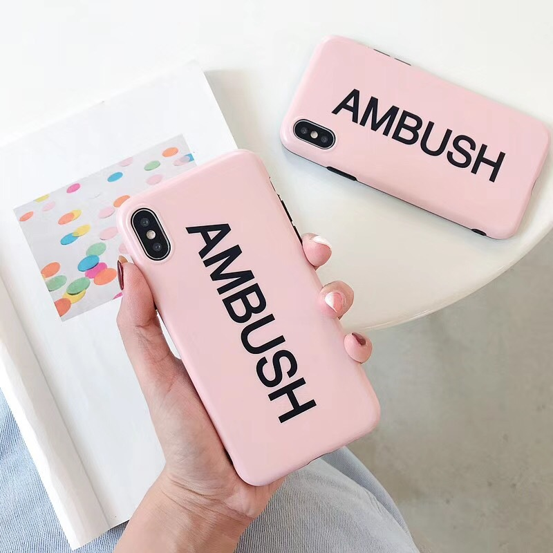 Simple English alphabet mobile phone case iphone6splus frosted tide brand apple x/7plus/8 male and female tide shell