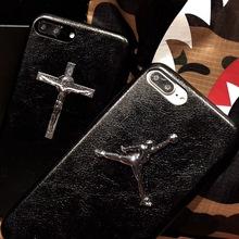 定制高?#21040;?#23646;手机壳标牌、diy手机壳耶稣十字架金属配件、