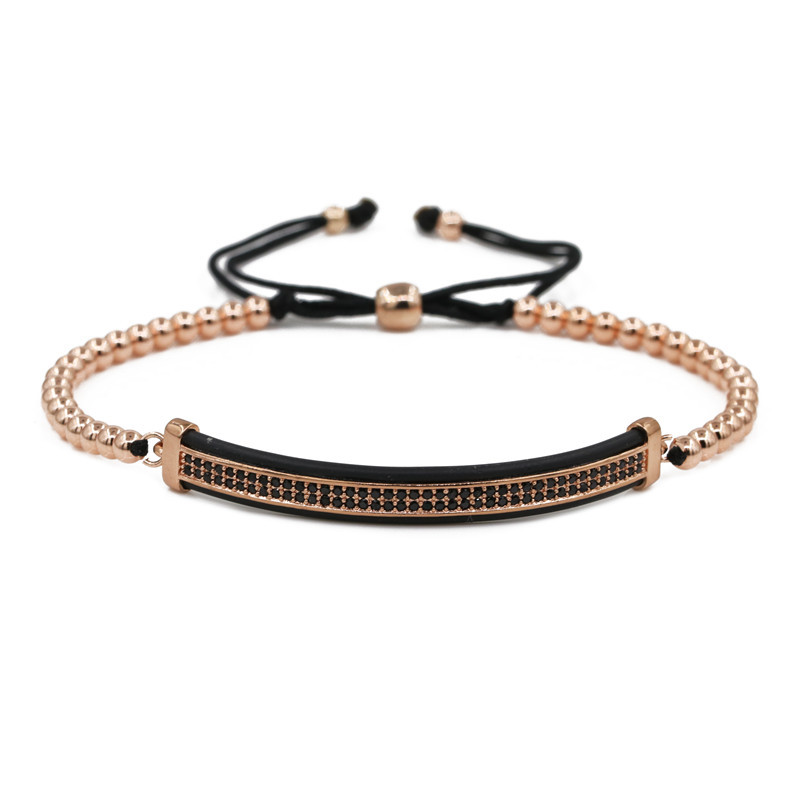 Copper Fashion bolso cesta bracelet  (black) NHYL0567-black
