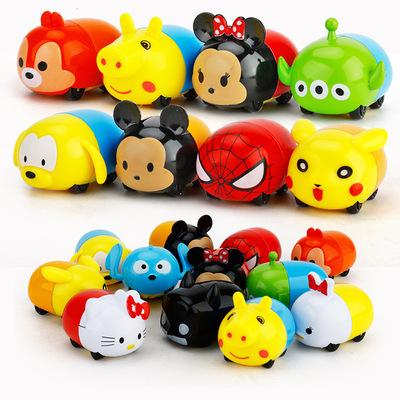 儿童玩具12款4.5厘米卡通造型掌中宝小号合金汽车模型赠品促销品