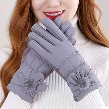 梦恋雪冬季女士加绒加厚保暖手套秋季韩版触屏防寒骑车厂家直销
