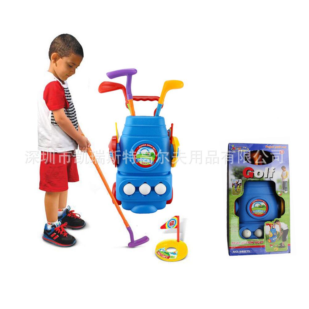 多色塑料迷你高尔夫球杆套装儿童高尔夫玩具儿童室内室外后院运动