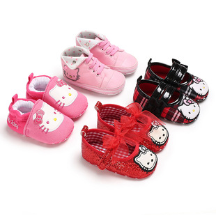 Baby shoes foreign trade baby shoes 0-1 year old female baby shoes cartoon soft bottom floor shoes non-drop shoes toddler shoes