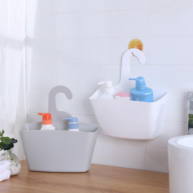 壁挂式多层收纳挂篮厨房浴室卫生间宿舍床头塑料置物架杂物吊篮子