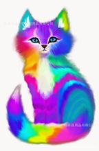 厂家直销外贸批发新款特价彩色猫钻石画装饰家居卧室书房