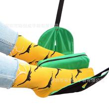 脚踏垫套装 工厂定制亚马逊旅行飞机脚吊床汽车高铁脚歇脚垫踏板