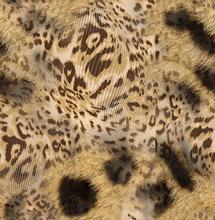 豹紋雪紡歐根紗空氣層可自定義底布大小尺寸顏色數碼印花布料
