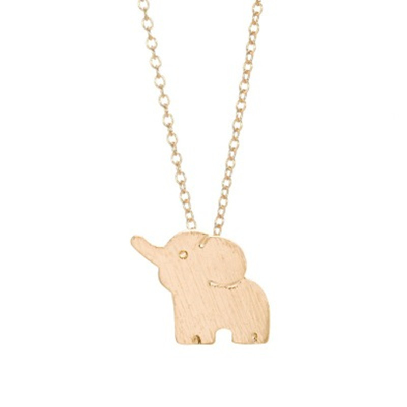 Hot sale cute elephant necklace eco alloy electroplated gold necklace clavicle chain wholesale NHCU186581