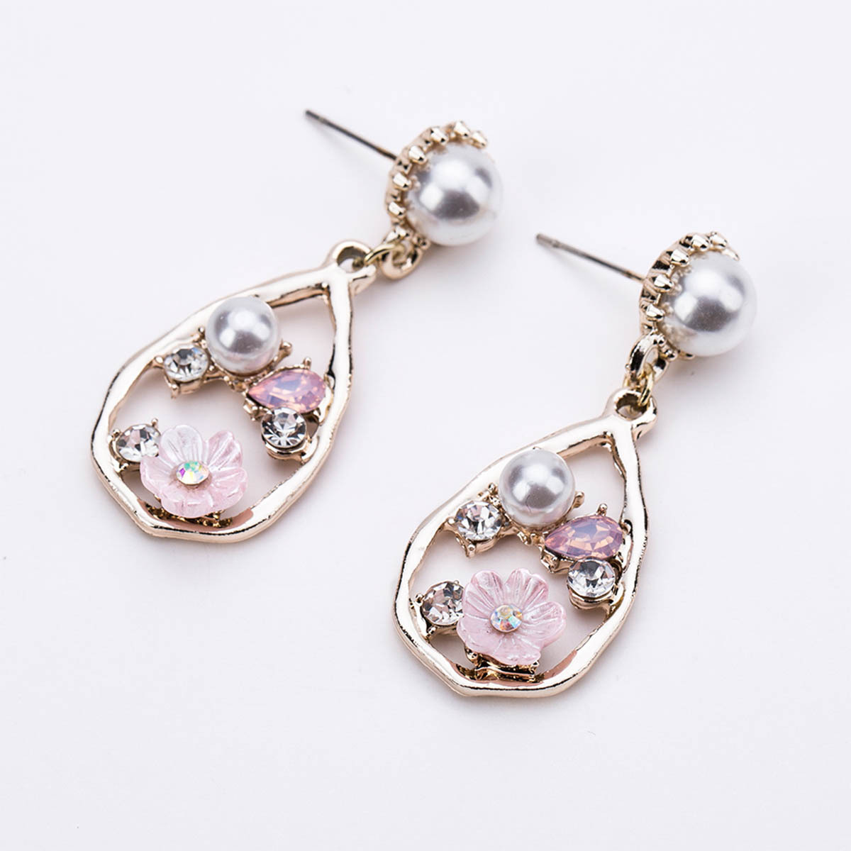 Alloy Fashion Flowers earring(color) NHJE1223-color