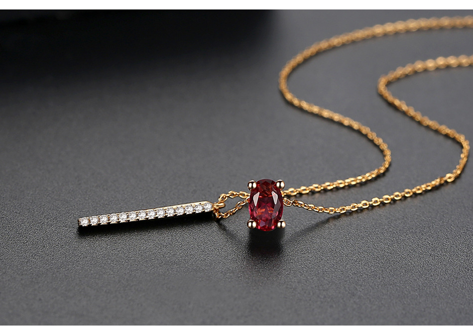 Alloy Korea Geometric necklace  (Champagne Alloy-15C14) NHTM0219-Champagne-Alloy-15C14
