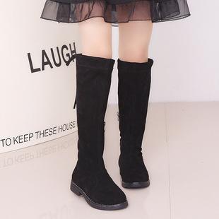 女童过膝靴长靴公主韩版中大童高筒靴子2019新款儿童长筒高帮靴冬