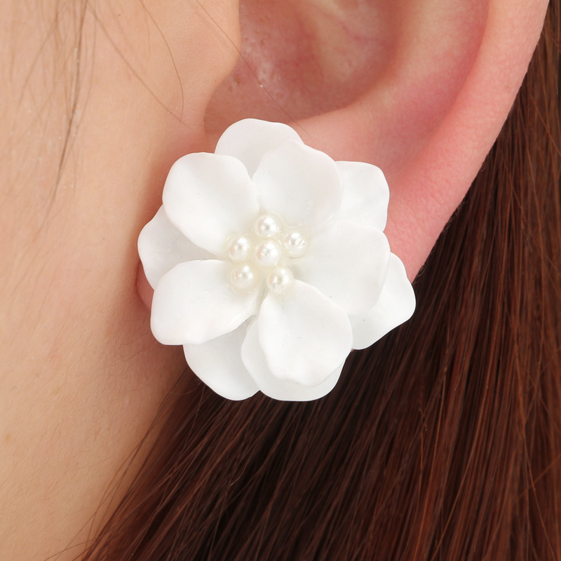 Vintage Alloy plating earring Flowers (Main picture)NHGY1683-Main picture
