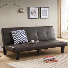?#25628;?#23039; 小户型多功能可折叠客厅皮艺 沙发床