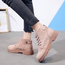 2020秋冬季新款女式马丁靴保暖雪地靴学生复古中筒短靴子英伦女鞋