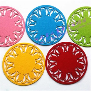 Felt placemats, waterproof and heat-insulated water coasters, various styles, gifts for activities