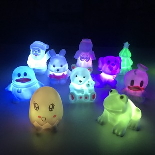Creative, new and peculiar street stall products, mushroom colorful night light, Yiwu Luminous Vinyl PVC toy manufacturer