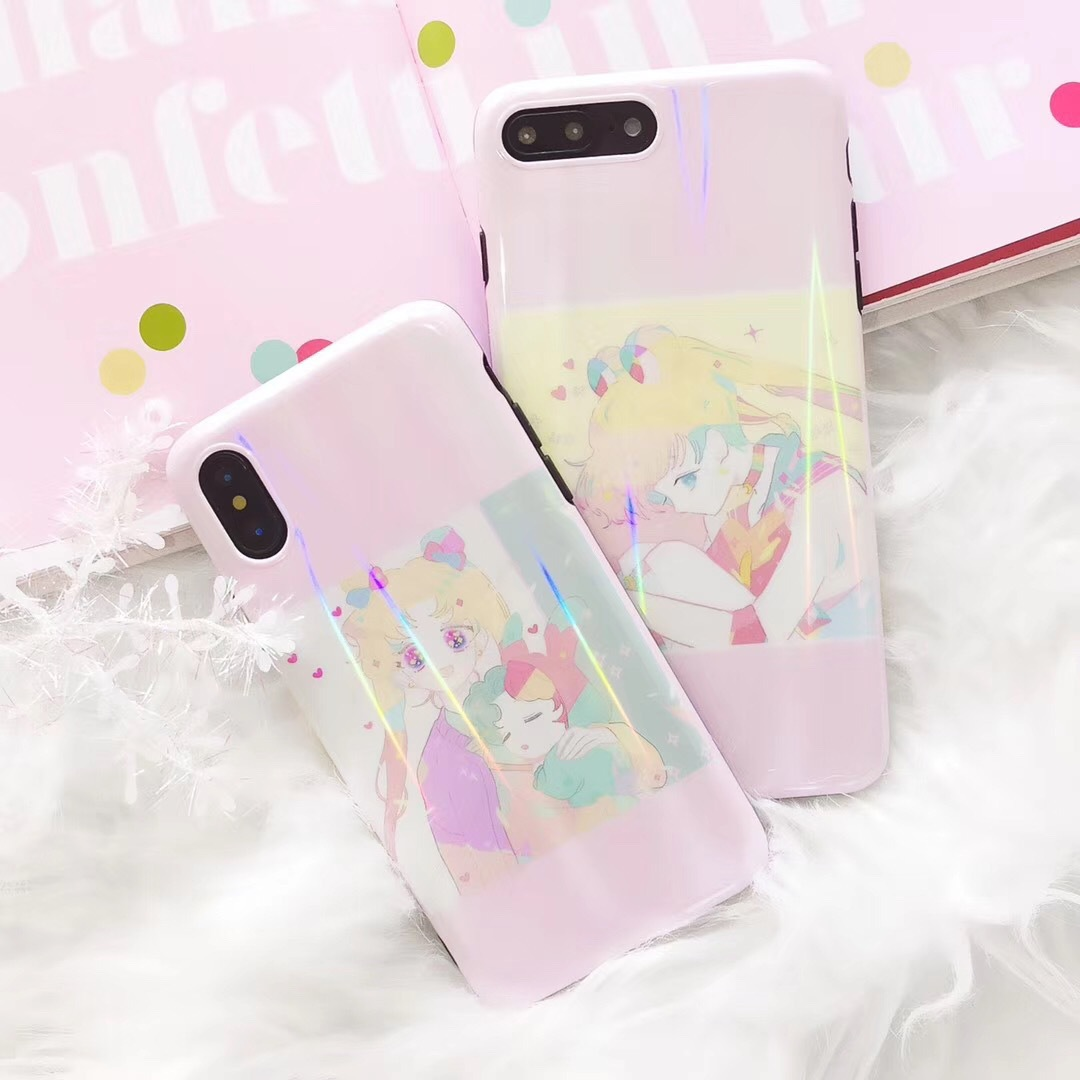 Ins the same Sailor Moon for Apple X mobile phone shell iphone7plus/8p/6Sp soft shell female models tide