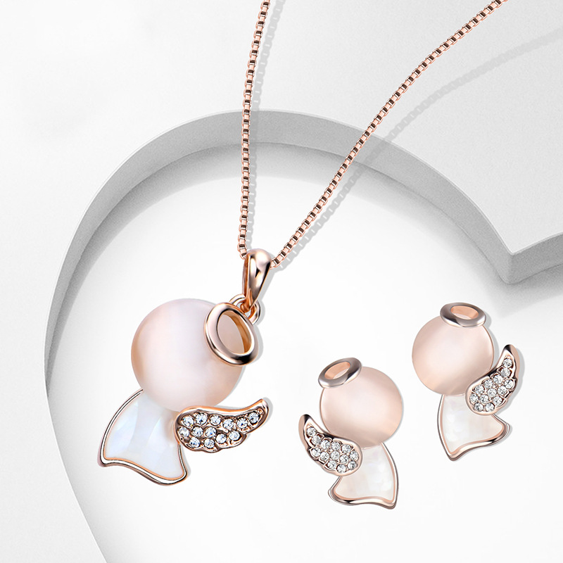 Alloy Korea  necklace  (61172418 rose alloy) NHXS1795-61172418-rose-alloy