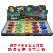 新奇特泡水大螃蟹膨胀玩具海绵宝宝孵化蛋儿童地摊小玩具批发