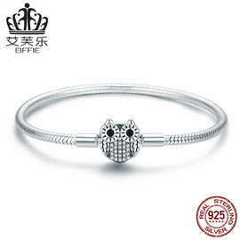 Avery Europe and the United States popular S925 sterling silver lady bracelet lovely owl bracelet Y SCB067
