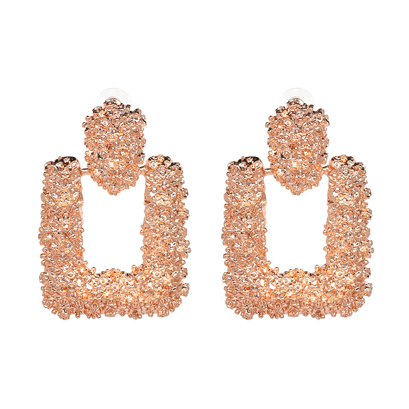 New European and American fashion geometric personality alloy earrings wholesales fashion NHJJ184674