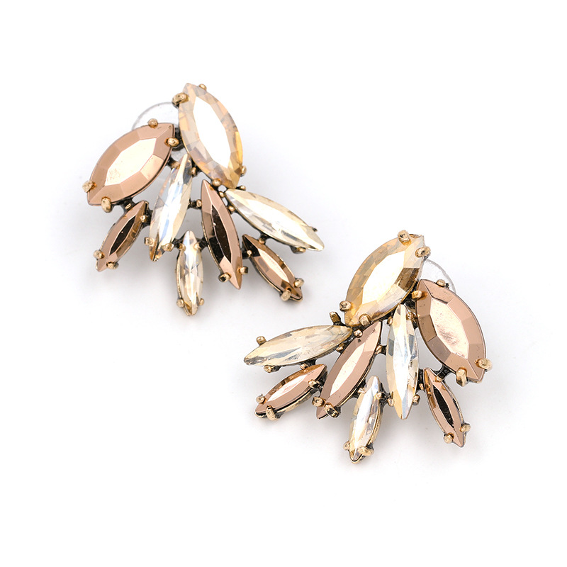 Crystal&CZ Fashion Geometric earring(50722) NHJJ4625-50722