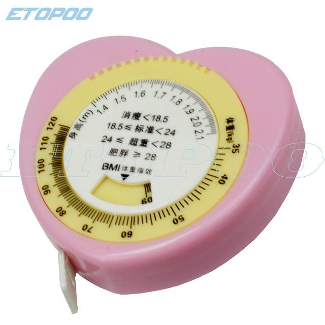 Etopoo 品质 1.5MM 迷你 BMI 爱心 卷尺 健康尺
