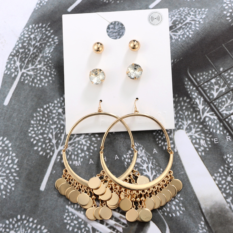 Fashion Alloy plating earring Geometric (Main color)NHGY1668-Main color