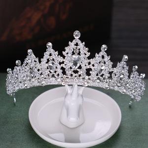 Hairpin hair clip hair accessories for women Crystal crown lady headdress crown headband wedding dress accessories