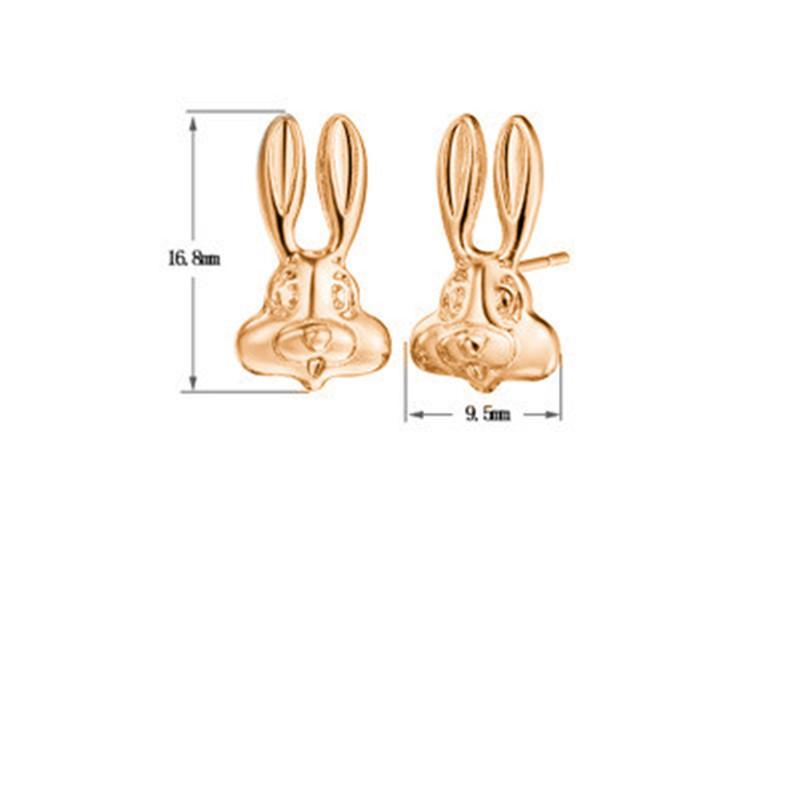 Ear Studs Cartoon Stylized Rabbit Head Ear Studs Long Ear Rabbit Ear Studs Hooligan Rabbit Ear Studs NHCU192710