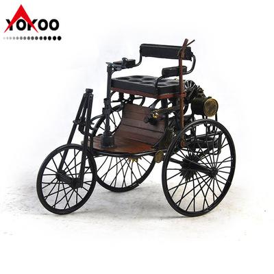 复古铁皮老爷车模型 仿古奔驰汽车模型 生日收藏纪念品