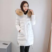羽绒棉服女中长款2018冬季新款加厚棉袄chic时尚显瘦休闲棉衣外套