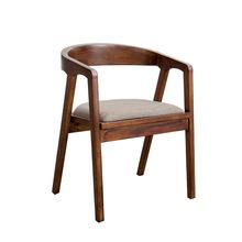 美式loft復古實木餐椅 家用客廳靠背椅工作室職員員工洽談辦公椅