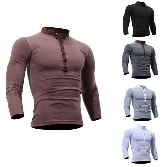 Ebay爆款春装新款男士长袖T恤 休闲假两件长袖T恤 T33